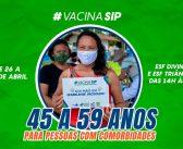 Vacinação para Pessoas de 45 a 59 anos e para Pessoas com comorbidades